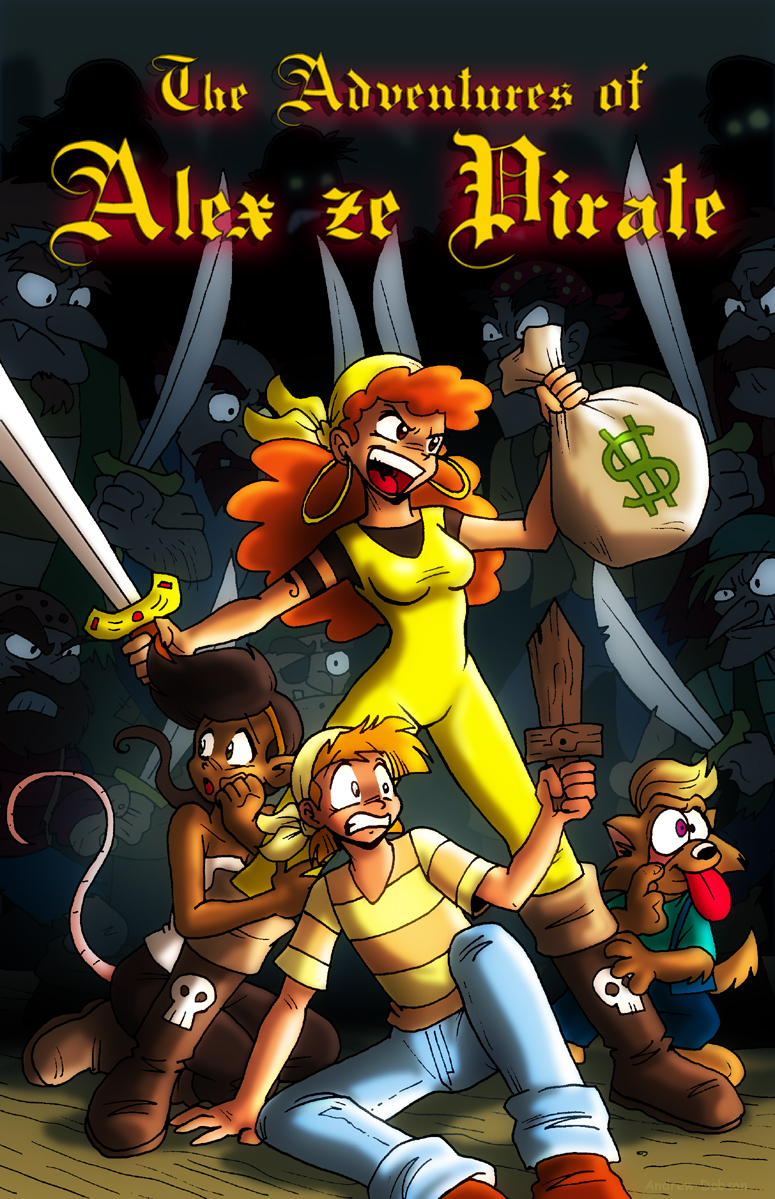 The Adventures of Alex Ze Pirate Book 1 Cover